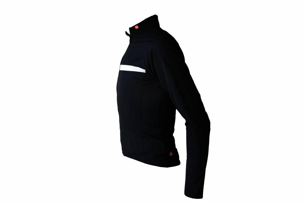 Cykel Textil-långärmad jacka, svart och vit windbreaker