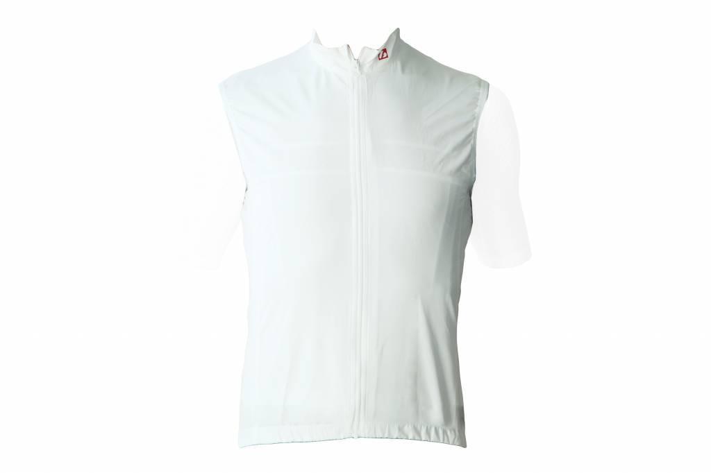 Bike textile - Windproof sleeveless Jersey, white