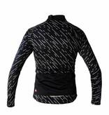 Cykel Textil-långärmad jacka, svart windbreaker