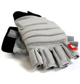 FLGC-02 Handskar Linemen ny passform, halvfinger, OL,DL, grå