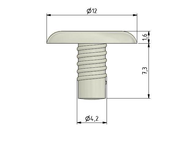 KNOBLOCH Schutzpuffer transparent 12 mm Durchmesser