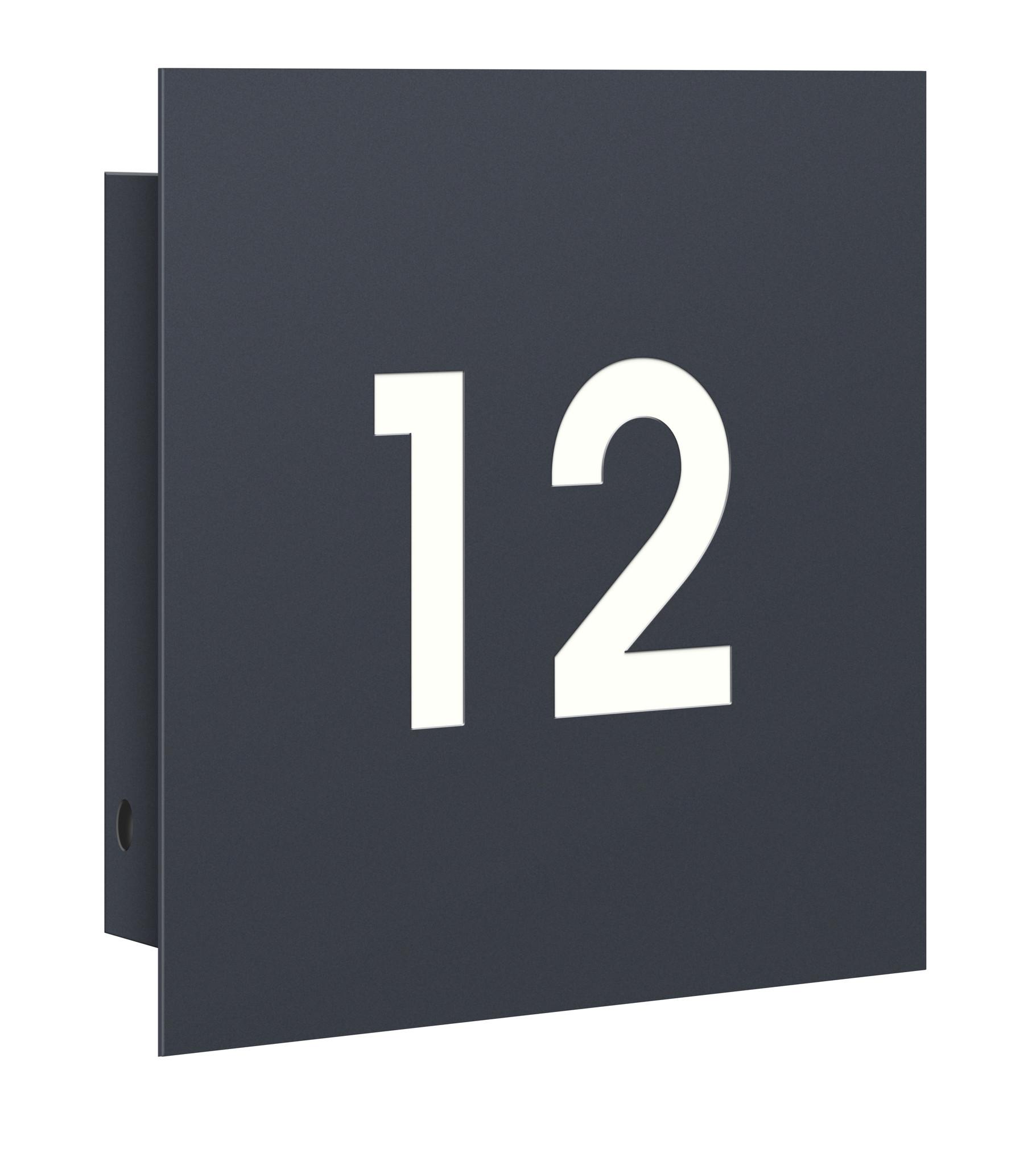 KNOBLOCH Hausnummernplatte Anthrazit