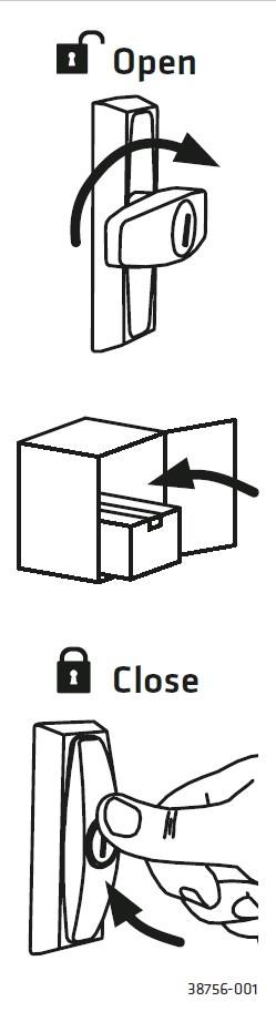 KNOBLOCH Paketschloss Cleverlock C023  - Set