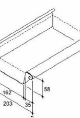 VMZINC zinken bakgoot 37 0,8  - 1 meter