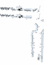 Feyts zinken regenpijp 60 mm - 1 mtr