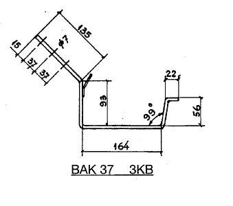 Feyts Dakgootbeugel goot bak 37 TAPGAT 45°