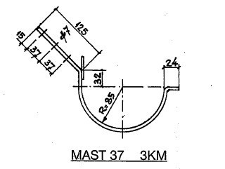 Feyts Dakgootbeugel mast 37 TAPGAT