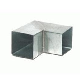 Feyts zinken bocht vierkant 80x80 mm - 90° (87°)