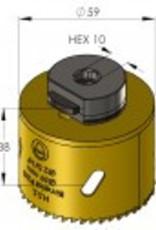 Pro-Fit Gatenboor 59 mm  incl. centreerboor