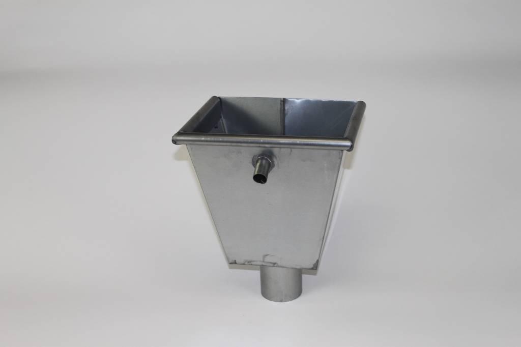 Feyts zinken vergaarbak recht 80 mm ( eco )