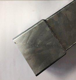 Feyts staal verzinkte ondereind voor regenpijp 80x80 mm - 2 mtr