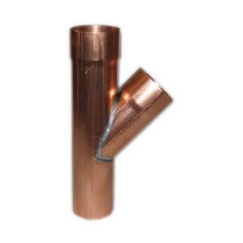 Feyts Koperen t-stuk 80 mm - 45°