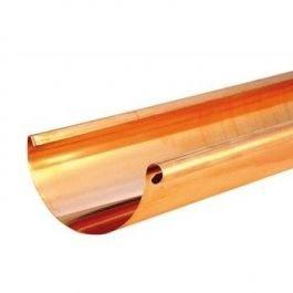 VMZINC Koperen goot M333 0,6 - 3 meter met rechts ingesoldeerd eindschot of optie uitloop