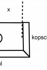 VMZINC zinken goot M333 0,7 - 3 meter met links ingesoldeerd eindschot of optie uitloop