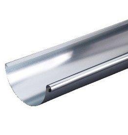 VMZINC zinken goot M333 0,7 - 3 meter met rechts ingesoldeerd eindschot of optie uitloop
