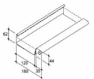 VMZINC zinken bakgoot 30 0,8 - 3 meter