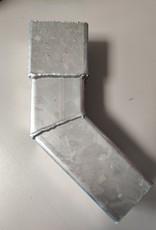 Feyts Staal verzinkte  bocht voor ondereind vierkant 80 x 80 mm - 45 graden