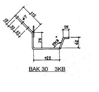 Feyts Dakgootbeugel goot bak 30 - 45° of te buigen op 0 - 90°