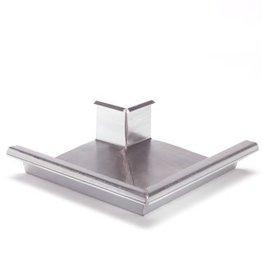 Feyts buitenhoek goot 90º vierkant 162 mm zink