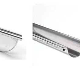 VMZINC zinken goot rond 125 mm 0,8 - 3 meter met links ingesoldeerd eindschot of optie uitloop