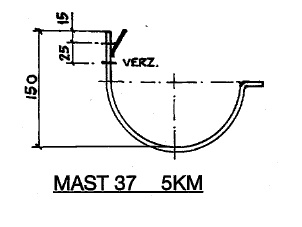 Feyts Dakgootbeugel muur goot mast 37