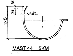 Feyts Dakgootbeugel muur goot mast 44