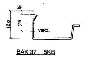 Feyts Dakgootbeugel muur goot bak 37