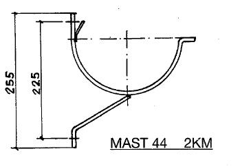 Feyts Dakgootbeugel renovatie goot mast 44 met steun