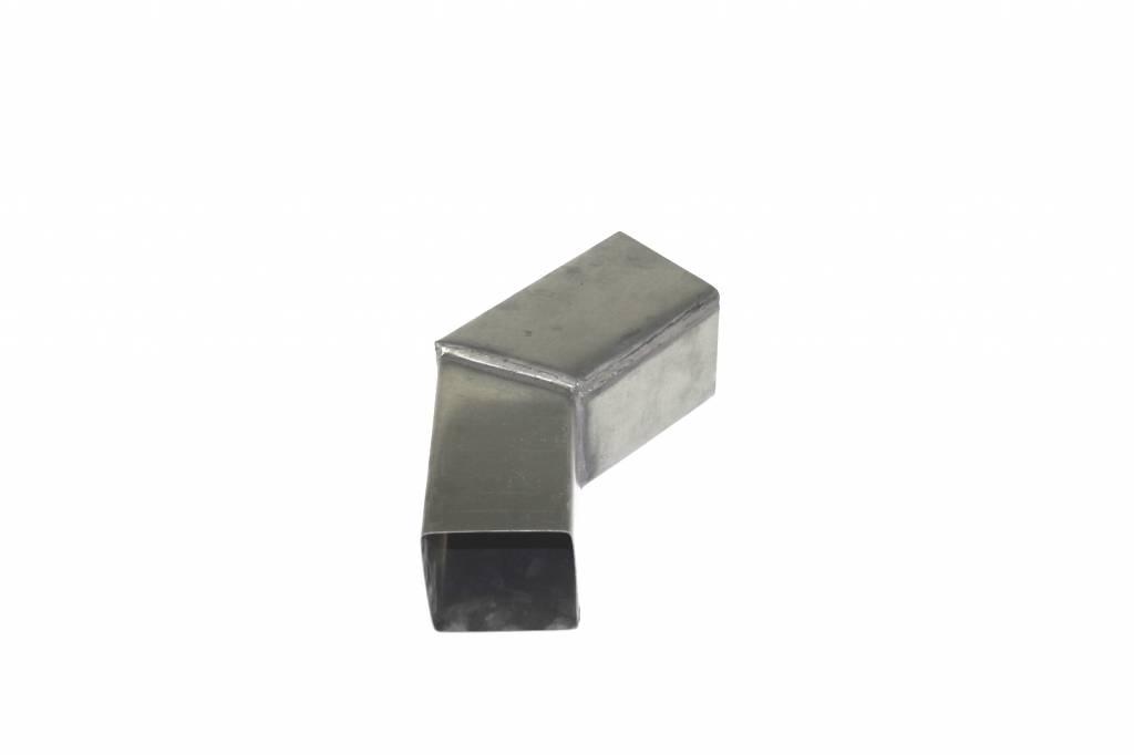 Feyts Zinken bocht vierkant 80x80 mm - 45°