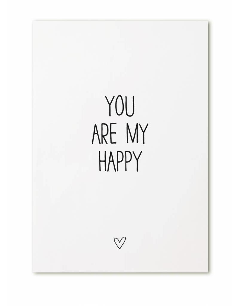 Zoedt Ansichtkaart You are my happy