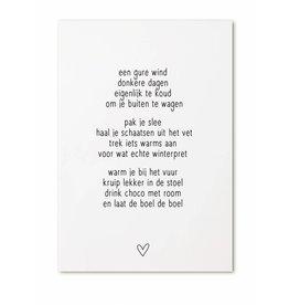 Zoedt Kaartje gedicht 'Een gure wind...'