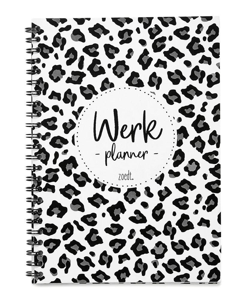 Zoedt Mooie werkplanner met panter patroon