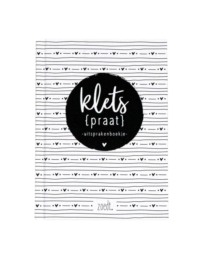 Zoedt Kletspraat invulboekje met uitspraken van kids