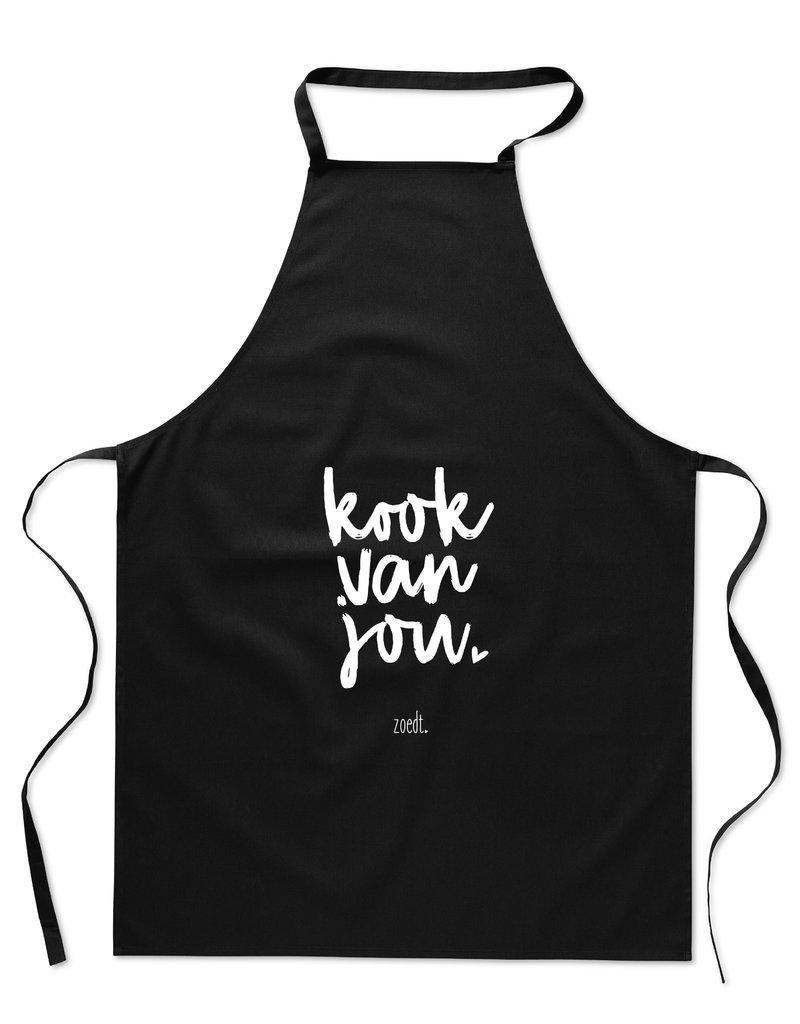 Zoedt Schort met tekst 'Kook van jou'