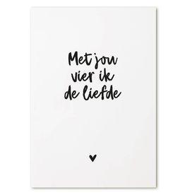 Zoedt Kaart met tekst 'Met jou vier ik de liefde'