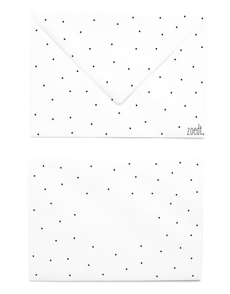 Zoedt Bedrukte envelopmet stippen patroon