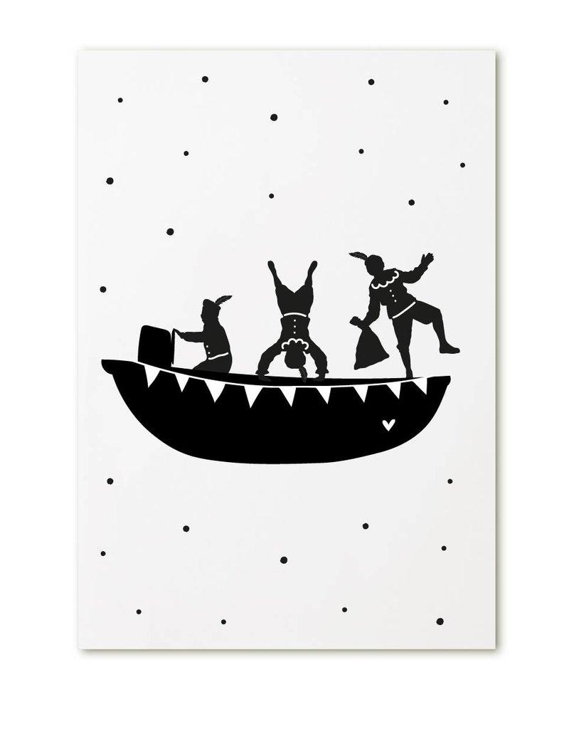 Zoedt Minikaartje met Pietenboot