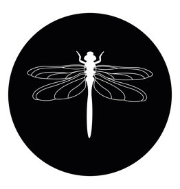 Zoedt Muurcirkel (binnen) zwart met Libelle