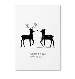 Zoedt Poster A4  Kerst 'De lichtjes in je ogen..'
