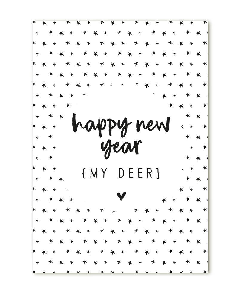 Zoedt Minikaartje Happy new year- my deer