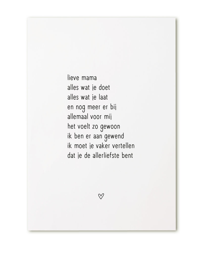 Zoedt Ansichtkaart met gedicht 'Lieve mama...'