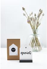 Zoedt Huisje met tekst Geniet in cadeauverpakking