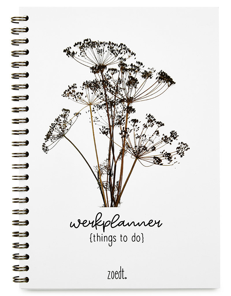 Zoedt Planner things to do met droogbloemen in A5 formaat