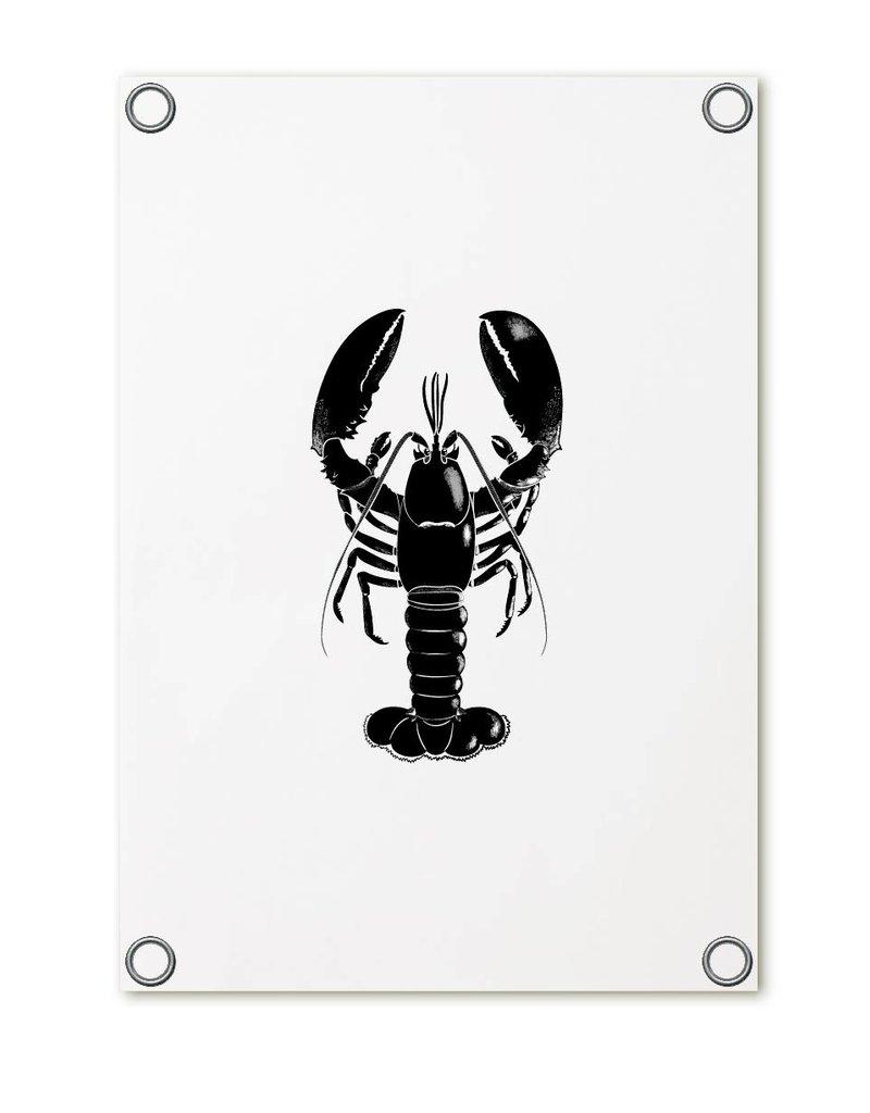 Zoedt Tuinposter wit met kreeft | 60x80 cm