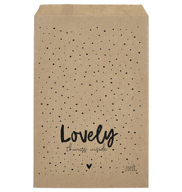 Zoedt Cadeauzakjes set van 5 met dots en tekst Lovely things inside