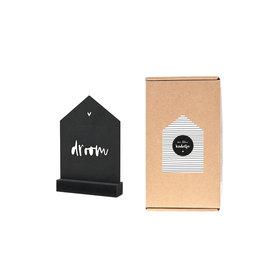 Zoedt Cadeaupakket Een klein kadootje: zwart houten huisje met tekst droom