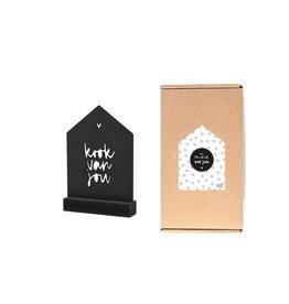 Zoedt Cadeaupakket Een kleinigheidje voor jou: zwart houten huisje met tekst Kook van jou