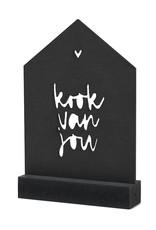 Zoedt Cadeaupakket Een kleinigheidje voor jou: Houten huisje met tekst Kook van jou in cadeauverpakking