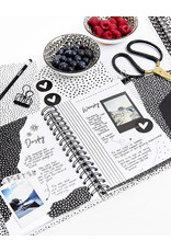 Zoedt Bullet journal Geluk is genieten van wat er is met stippen patroon - A5 formaat