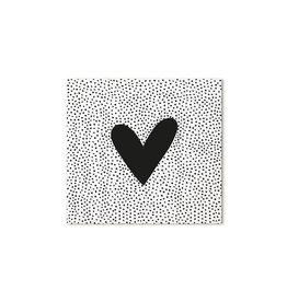 Zoedt Cadeaukaartje vierkant met hart en dots patroon